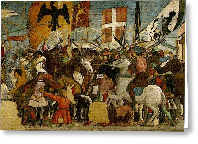 Piero Della Francesca Battle Between Heraclius And Chosroes Greeting Card