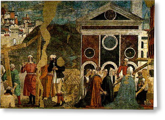 Piero Della Francesca Discovery And Proof Of The True Cross Greeting Card