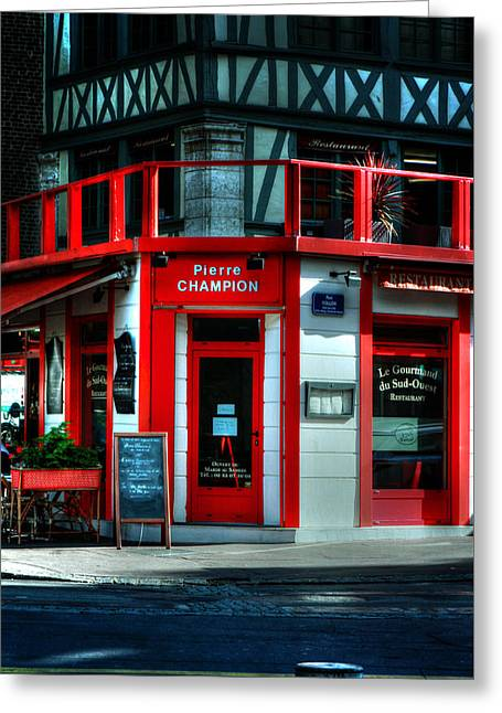 Pierre Champion Rouen France Greeting Card by Tom Prendergast