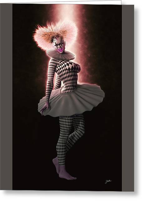 Pierrette From New York Greeting Card by Joaquin Abella