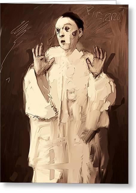 Pierrot Greeting Card by H James Hoff