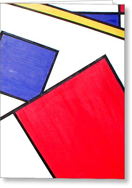 Piet Mondrian Greeting Card by Beth Parrish
