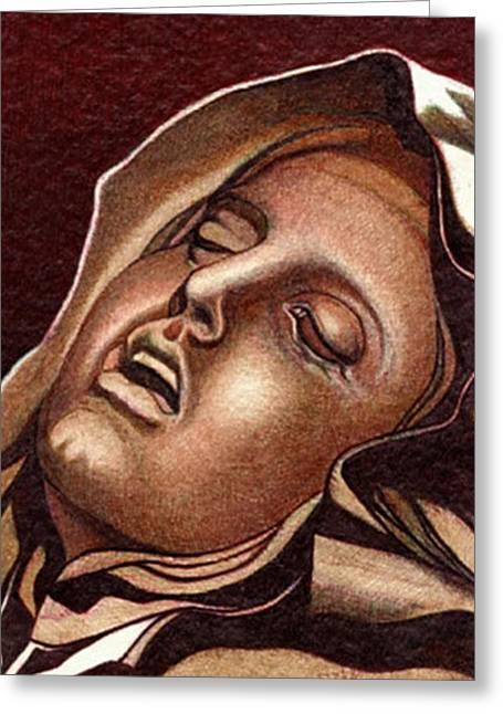 Pieta Greeting Card by Jerry  Stith
