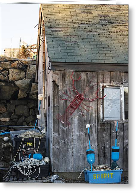 Pigeon Cove Shack Rockport Ma Greeting Card by Toby McGuire