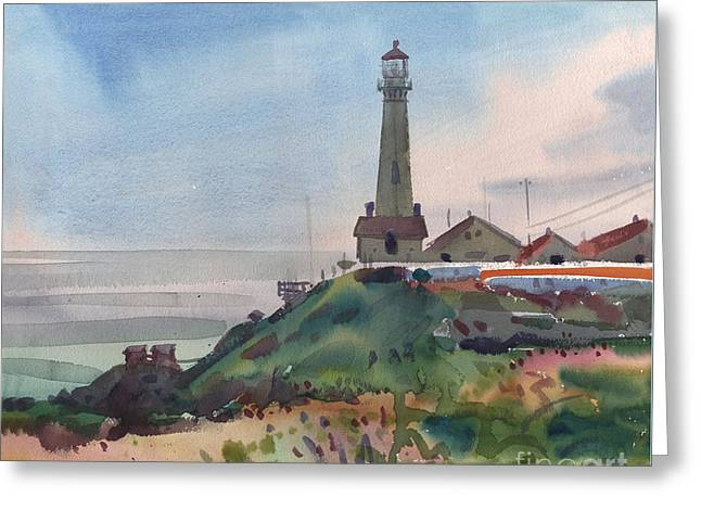 Pigeon Point Greeting Card by Donald Maier