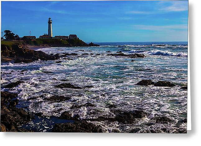 Pigeon Point Lighthouse Coastline Greeting Card by Garry Gay