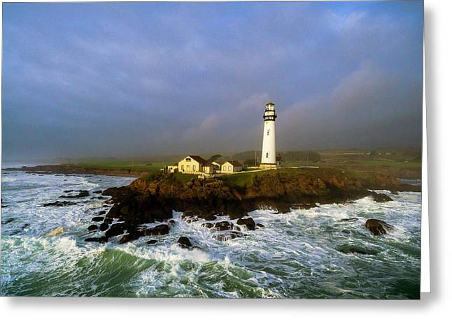 Greeting Card featuring the photograph Pigeon Point Lighthouse by Evgeny Vasenev