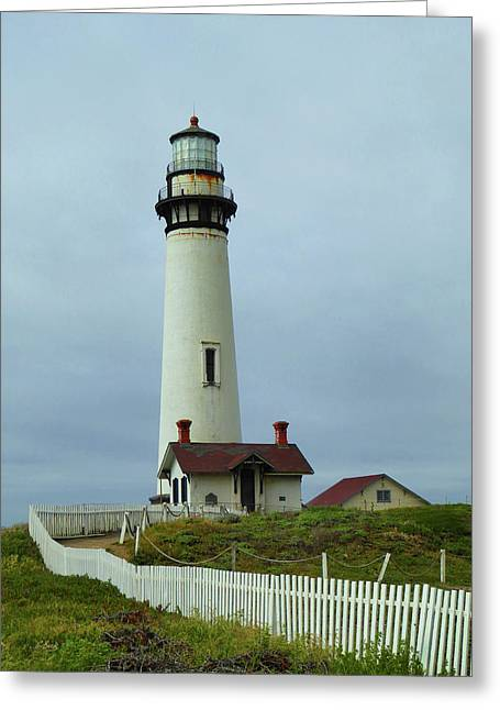 Pigeon Point Lighthouse Greeting Card by Gordon Beck