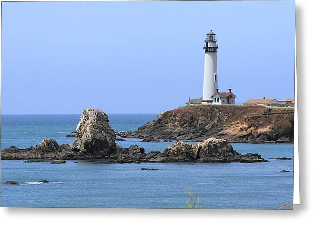 Pigeon Point Lighthouse Greeting Card by Lou Ford