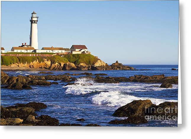 Pigeon Point Lighthouse On California Coast Greeting Card