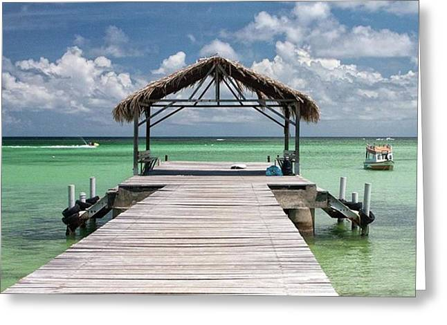 Pigeon Point, Tobago#pigeonpoint Greeting Card
