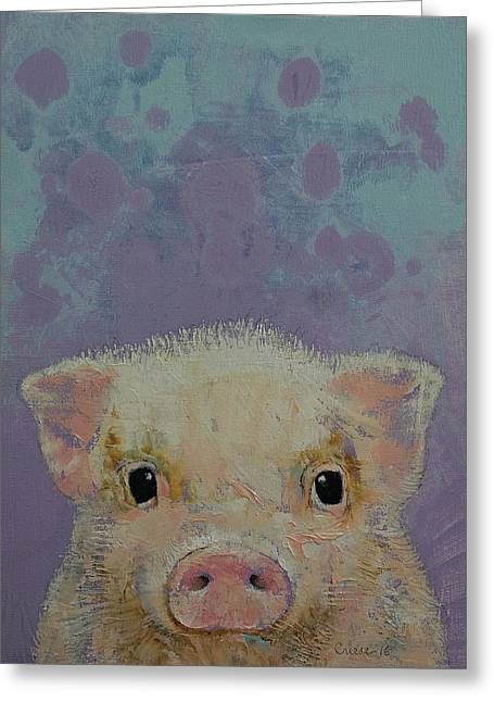 Piglet Greeting Card