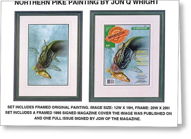 Pike And Perch Greeting Card