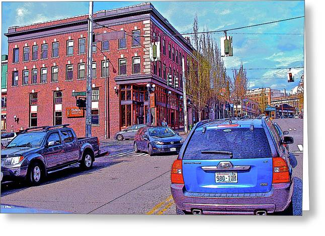 Pike Street And Boren Avenue Greeting Card
