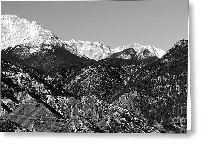 Pikes Peak And Incline 36 By 18 Greeting Card