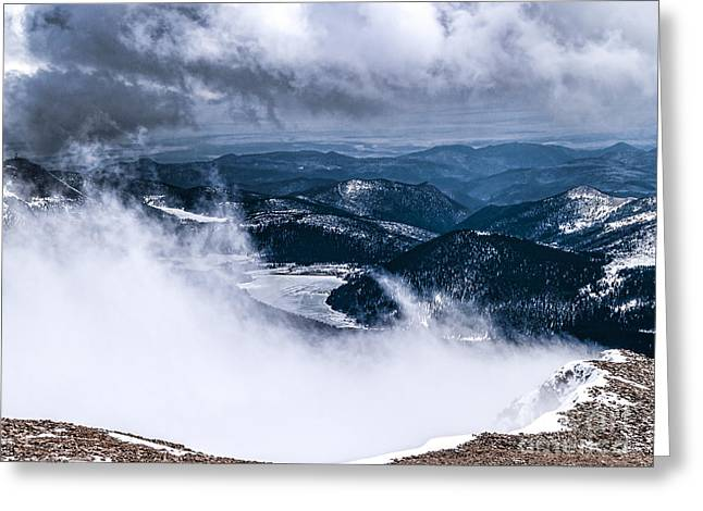 Greeting Card featuring the photograph Pikes Peak by Anthony Baatz