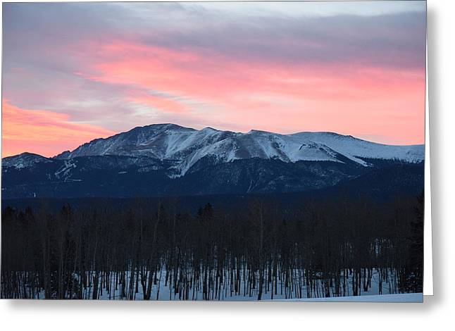 Sunrise Pikes Peak Co Greeting Card