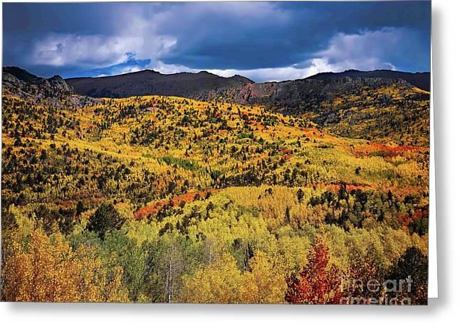 Pikes Peak Autumn Greeting Card