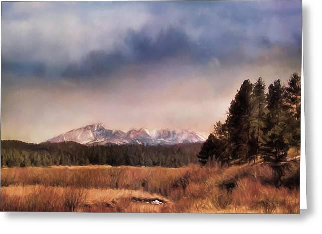 Pikes Peak Colorado Landscape Art By Jai Johnson Greeting Card by Jai Johnson