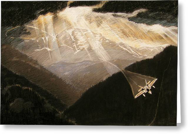 Pikes Peak Flight Greeting Card by Nils Bifano