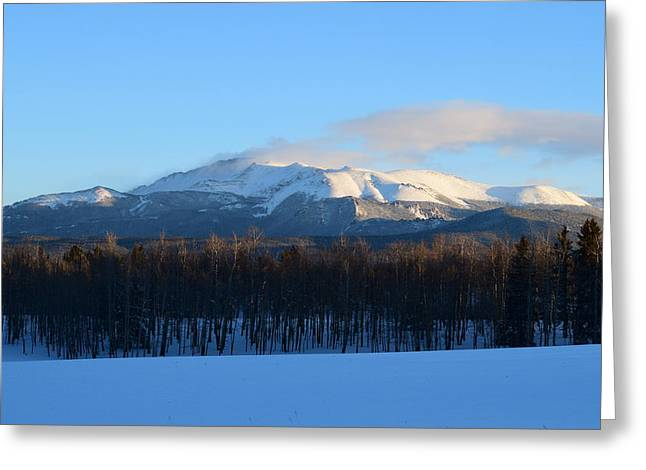 Pikes Peak From Cr511 Divide Co Greeting Card