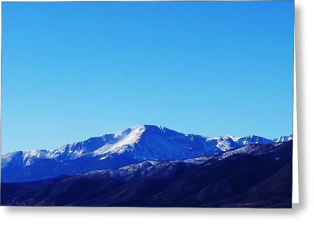 Greeting Card featuring the photograph Pikes Peak by Joseph Frank Baraba