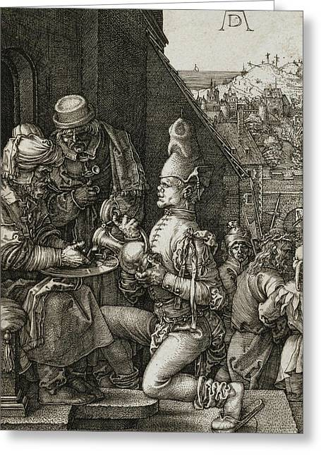Pilate Washing His Hands Greeting Card by Albrecht Durer