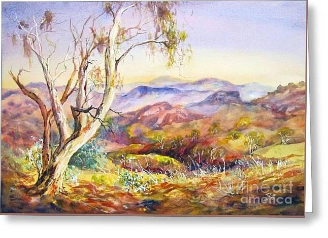 Pilbara, Hamersley Range, Western Australia. Greeting Card