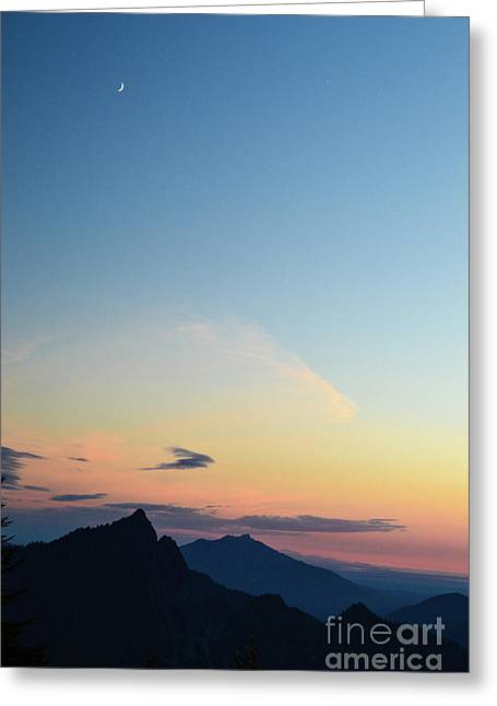 Pilchuck Sunset Greeting Card