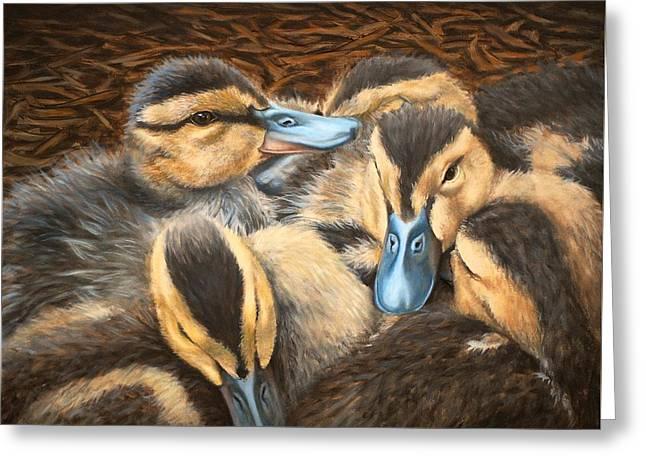 Pile O' Ducklings Greeting Card