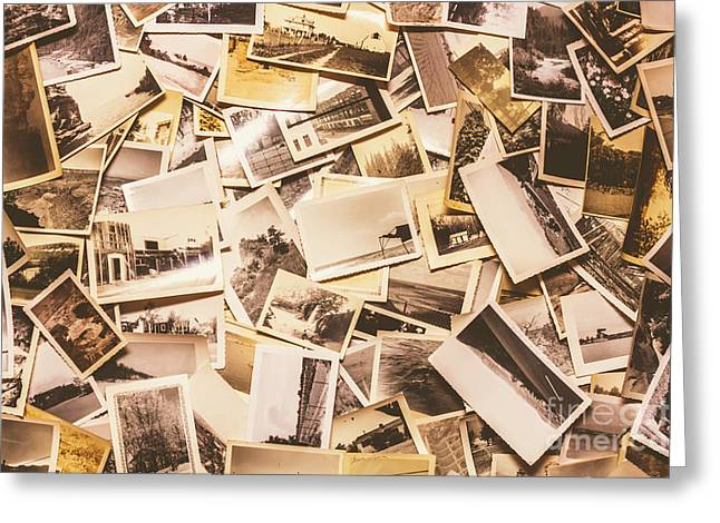 Pile Of Many Instant Photos  Greeting Card by Jorgo Photography - Wall Art Gallery