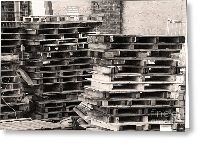 Pile Of Pallets Greeting Card by Adriana Zoon