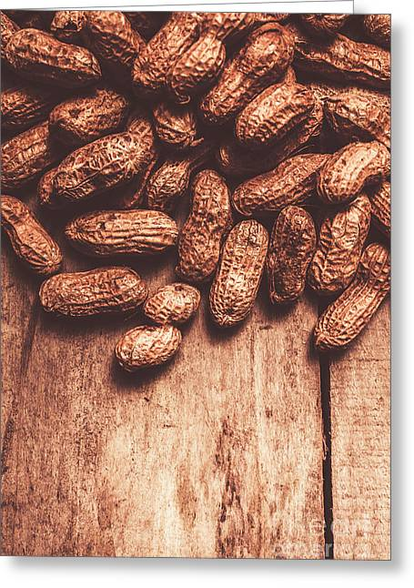 Pile Of Peanuts Covering Top Half Of Board Greeting Card