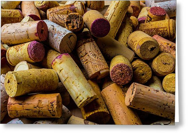 Pile Of Wine Corks Greeting Card