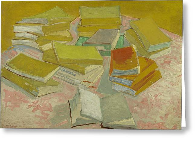 Piles Of French Novels Greeting Card by Vincent van Gogh