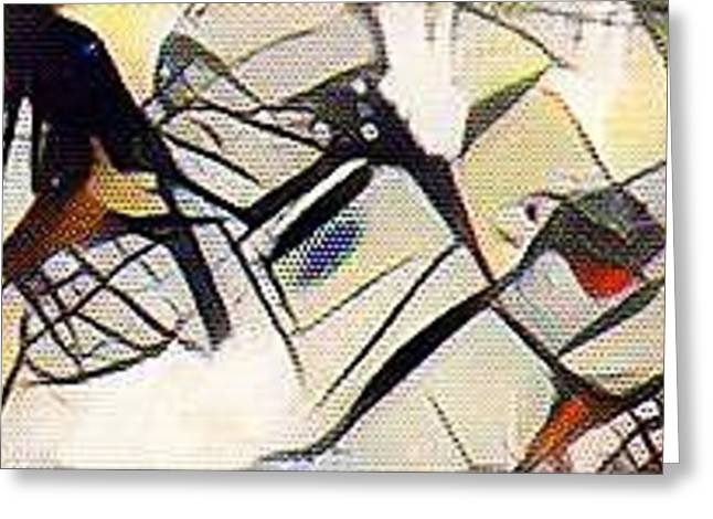 Pilgram Travellers In Space Semi Abstract  Greeting Card
