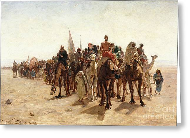 Pilgrims Going To Mecca Greeting Card by Louis Comfort Tiffany
