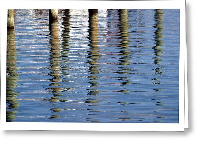 Greeting Card featuring the photograph Pilings Beaufort Nc by Phil Mancuso