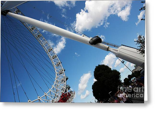 Pillar Of London S Ferris Wheel  Greeting Card
