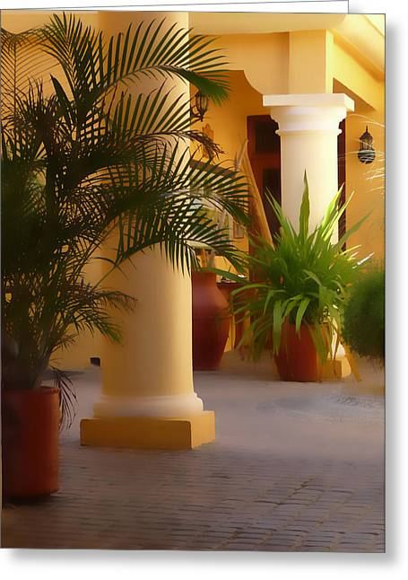Pillars And Palms Greeting Card