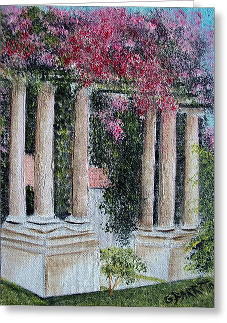 Pillars In The Garden Greeting Card