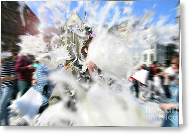 Pillow Fight Greeting Card