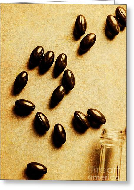 Pills And Spills Greeting Card by Jorgo Photography - Wall Art Gallery
