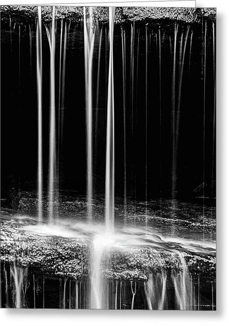Pillsbury Falls Details Greeting Card by JC Findley
