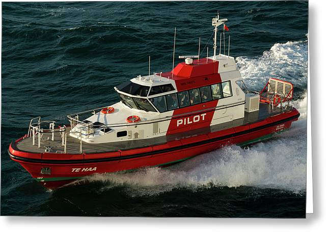 Pilot Boat Wellington Greeting Card
