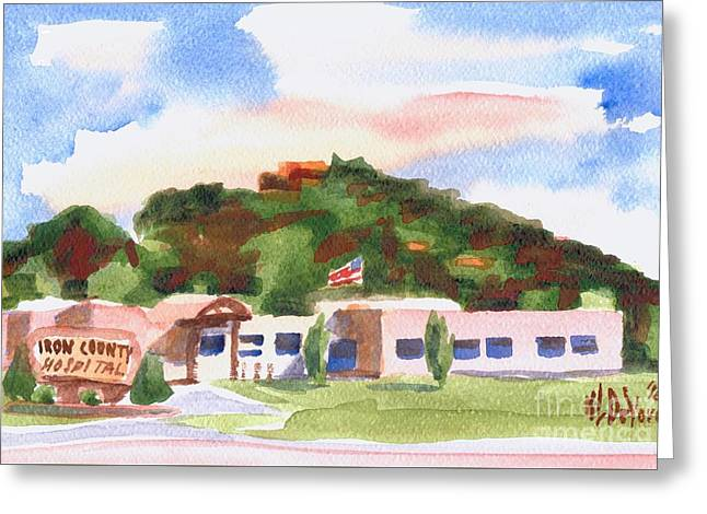 Greeting Card featuring the painting Pilot Knob Mountain W401  by Kip DeVore