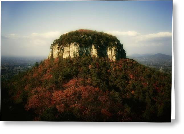 Mayberry Greeting Cards - Pilot Mountain Greeting Card by Mark Wagoner