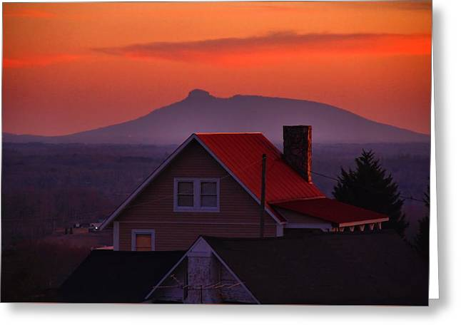 Pilot Sunset Overlook Greeting Card by Kathryn Meyer
