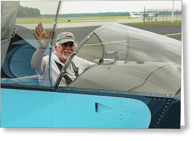 Pilot Vic Vicari Greeting Card