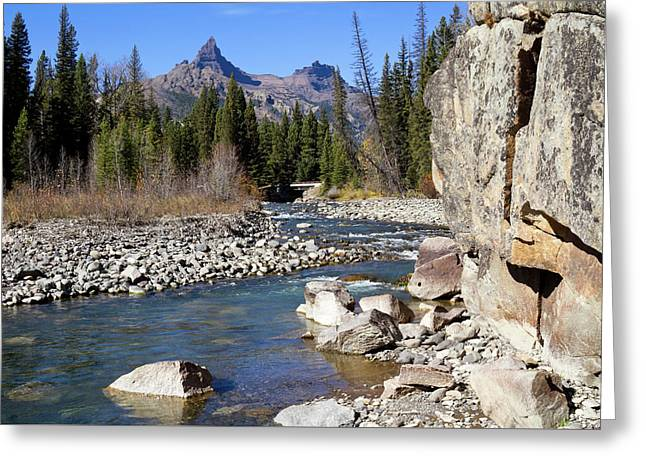 Pilots Peak And Clark Fork 1 Greeting Card by Shirley Mitchell